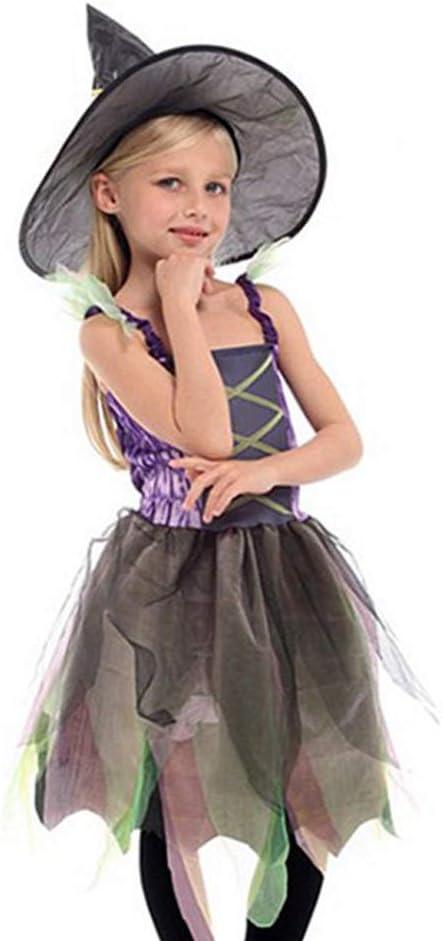 Ajolg Disfraz de Bruja - Disfraz de niña de Halloween,Falda ...
