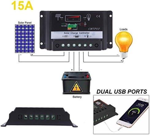 Solarladeregler,Hunpta@5/10/15/20/30A 12 V/24 V PWM Solar Batterie Regler Laderegler Auto Schalter (C)