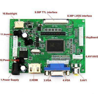 "HDMI+VGA+2AV for LP173WF1 HSD173PUW1-A00 17.3/""  inch Controller Driver Board"