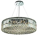 Chantal Chrome Contemporary 18-Light Hanging Chandelier Heirloom Grandcut Crystal in Crystal (Clear)-1726D32C-EC--32