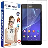 bagtag Cellbell Tempered Glass Screen Protector for Sony Xperia Z2 (2.5D Curved Edges)(Clear) Complimentary Prep cloth-Bronze Edition