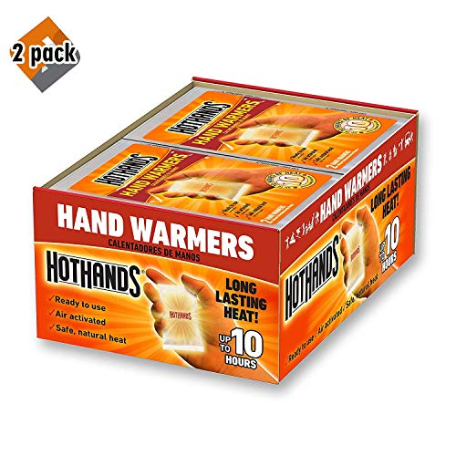 HotHands Hand Warmers - Long Lasting Safe Natural Odorless Air Activated Warmers - Up to 10 Hours of Heat - 40 Pair - 2 Pack