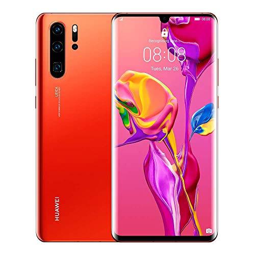 Huawei P30 Pro Dual/Hybrid-SIM 128GB VOG-L29 (GSM Only, No CDMA) Factory Unlocked 4G/LTE Smartphone - International Version (Amber Sunrise)