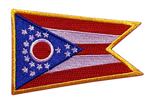 "Ohio State Flag Tactical Patch [""Velcro Brand"" Fastener - OH9]"