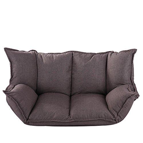Multi-Function Folding Lazy Sofa Futon Lounger Loveseat Adjustable Armrests backrest Folding Sofa Bedroom Folding Sofa Video Gaming Chair