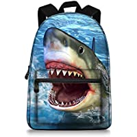 Animal Printing Children School Backpack School Bags for Boys and Girls, Shark