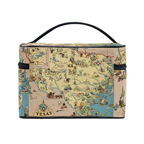tate Map Portable Travel Makeup Cosmetic Bags Toiletry Organizer Multifunction Case ()