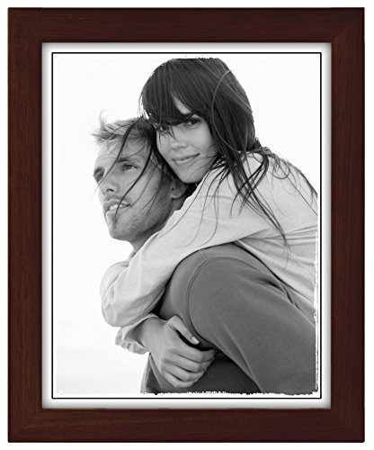 Malden International Designs Linear Classic Wood Picture Frame, 8x10, Espresso ()
