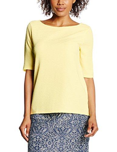 Yellow Camiseta Mujer Colors Yellow Para Benetton Textured United light Of 6znHTnI