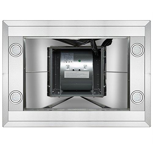 "GOLDEN VANTAGE 30"" Island Mount Stainless Steel Range Hood Vent GV-GL9001-30 w/2 Baffle Filters"