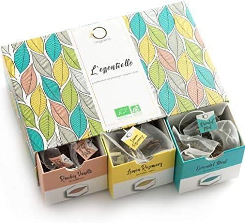 ☘️ TE ORGANICO - Caja té Orgánico | Surtido de té premium, 6 sabores diferentes | Caja Regalo | 48 bolsitas piramidales: Amazon.es: Alimentación y bebidas