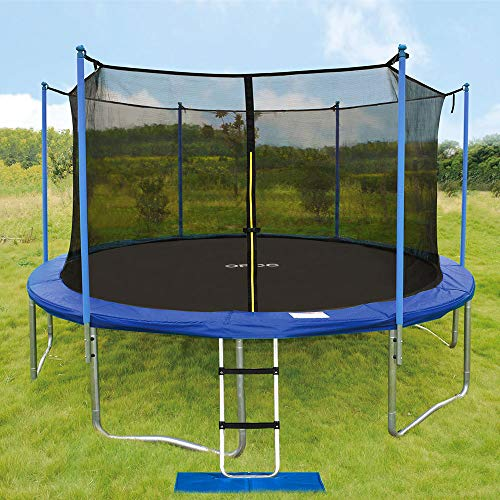 ORCC New Upgrade15 14 12 10FT Trampoline with Safety Enclosure Net Wind Stakes Rain Cover Ladder,Outdoor Trampoline with TUV Certificated,Best Gift for Kids by ORCC (Image #6)