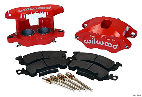NEW WILWOOD RED D52 BIG GM BRAKE CALIPERS AND PADS, FRONT, 2 PISTONS, FOR 1.04