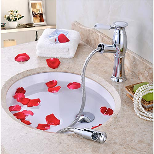 (Zhanghaidong Modern Kitchen Sink Mixer Tap Rotating Spout Chrome-Plated Brass Body Single Lever Water Kitchen Tap Short Wash Basin Mixer)