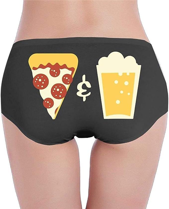 Adamitt Pizza y Cerveza Mujer Algodón Bragas de Tiro bajo Tanga ...
