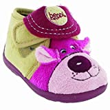 Mirak Bungle Childrens Touch Fastening Slipper/Little Girls Slippers/Childrens Slippers (11 US Junior) (Pink)