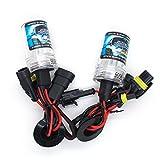 HID Xenon Bulb Car Headlight Replacement Bulbs - 1 Pair - 1 Year Warranty (35W-4300K, 9006)