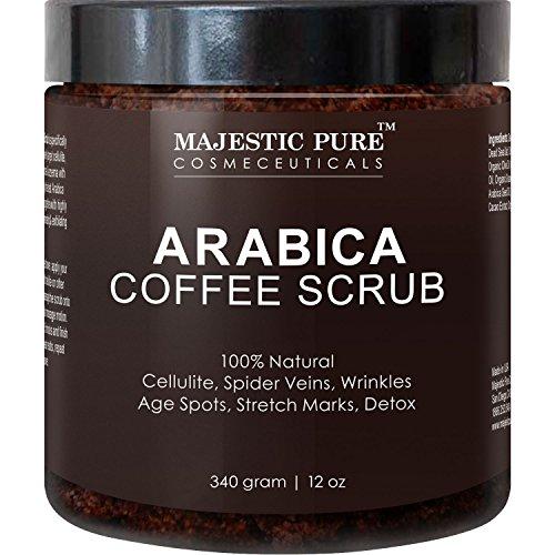 Arabica Coffee Scrub From Majestic Pure Helps Reduce