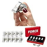 FORCE MAGNET - 10 Powerful Stainless Steel Magnetic Bulldog Clips, Heavy Duty Refrigerator Magnet Hook Clips, FREE Anti Scratch Pads ~ The MOST POWERFUL Magnet for House, Office, Classroom