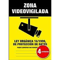 Pegatina Cartel Alarma ZONA VIDEOVIGILADA Disuasorio Aviso 15/1999