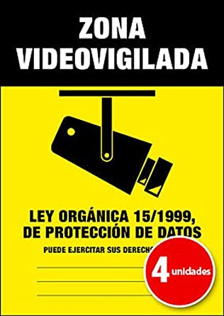 Pegatina Cartel Alarma ZONA VIDEOVIGILADA Disuasorio Aviso ...