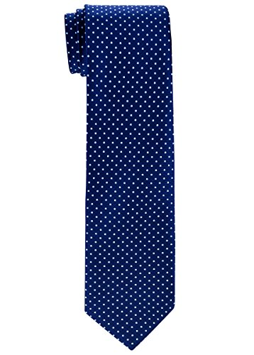 Retreez Modern Mini Polka Dots Woven Boy's Tie (8-10 years) - Navy Blue with Light Blue Dots ()