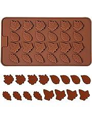 Orapink Blad siliconen chocolade mallen kleine bladeren vorm vormen voor chocolade, snoep, gelei, taart decoratie
