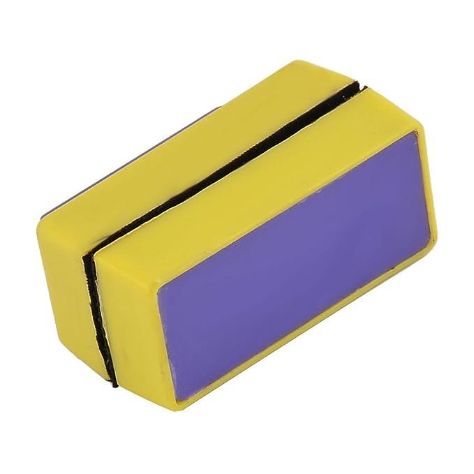 Amazon.com : eDealMax imán magnético de Cristal del acuario algas raspador de cepillo de Lavado limpiador Púrpura Amarillo : Pet Supplies