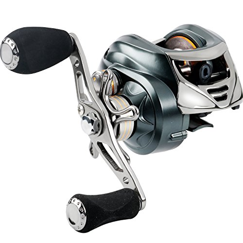 Sougayilang Low Profile Baitcasting Fishing Reel 18 LB Carbon Fiber Drag, 11+1 BB Casting Reel,Dual Brakes Baitcaster Fishing Reel- New for 2018!