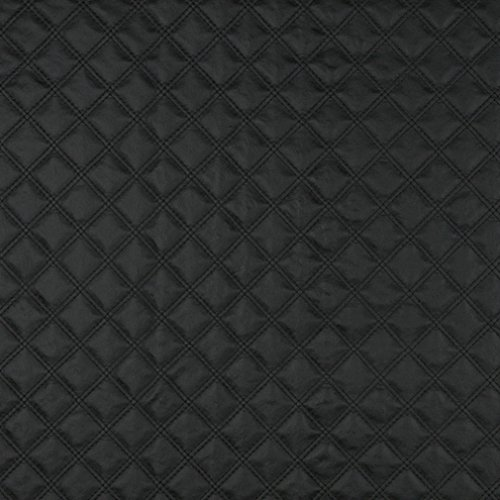 (G350 Black Matte Diamonds Upholstery Faux Leather by The Yard )