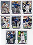 2014 Texas Rangers Bowman MLB Baseball Complete Mint 8 Card Team Set Made By Topps Including Yu Darvish Prince Fielder and Others