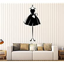 Vinyl Wall Decal Ball Gown Short Mannequin Dress Ballerina Girl Stickers Large Decor (ig4620) Purple