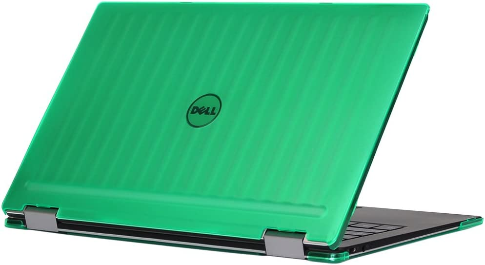 """mCover iPearl Hard Shell Case for 13.3"""" Dell XPS 13 9365 2-in-1 Models (not Fitting Non 2-in-1 XPS 13 Models) Convertible Laptop 2-in-1 9365 - Green"""