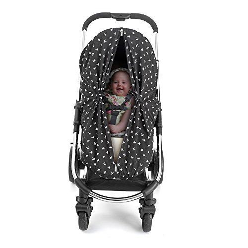 Outlook Universal Cotton Sleep Eazy Stroller Cover (Black Swallows) by Outlook 2010 (Image #1)