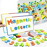 Pussan Magnetic Letters and Numbers for Kids Education Alphabet Alphabet Magnets for Fridge Refrigerator Learning Resources Toddler Toys Teacher and Children Christmas Birthday Gifts 225 Pieces