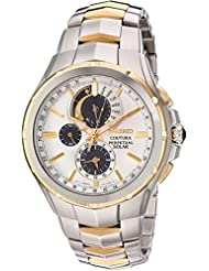 Seiko Mens Coutura Quartz Stainless Steel Casual Watch, Color:Two Tone (Model: SSC560)