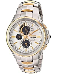 Seiko Men's 'Coutura' Quartz Stainless Steel Casual Watch, Color:Two Tone (Model: SSC560)
