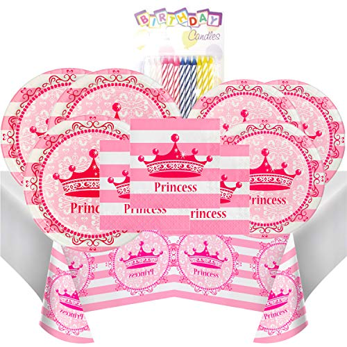 Pink Princess Themed Party Pack – Includes 24 9