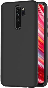 AICEK Funda Compatible Xiaomi Redmi Note 8 Pro, Negro Silicona ...