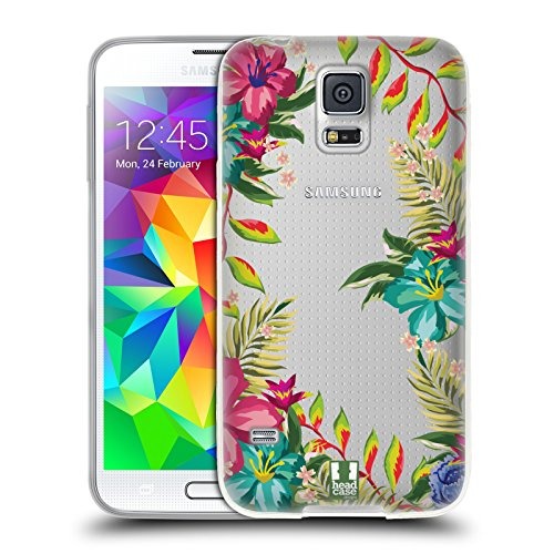 Head Case Designs Tropical Flower Power Soft Gel Case for Samsung Galaxy S5 / S5 Neo