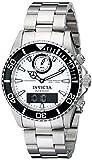 Invicta Men's 12470 Pro Diver Analog-Digital Display Swiss Quartz Silver Watch