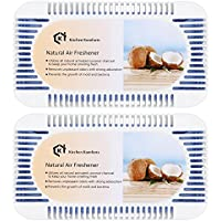 Kitchen Komforts Natural Air Freshener &Odor Remover, Air Purifying Box Combo, 4 Pack Natural Activated Coconut Charcoal Air Freshener Bags, Odor Eliminator for Refrigerator/Cars/Closets/Shoe Cabinets