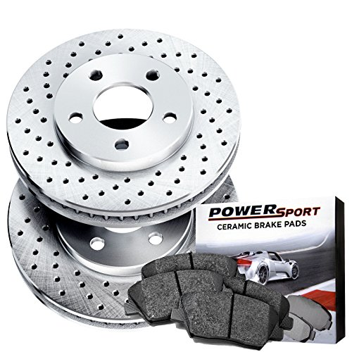 Power-Sport-Cross-Drilled-Brake-Rotors-and-Ceramic-Brake-Pads-Kit-81203-FRONTS
