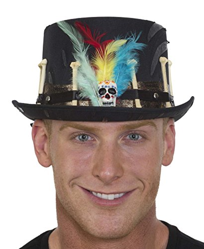 Jacobson Hat Company Men's Witch Doctor Top Hat, Black, Adjustable -