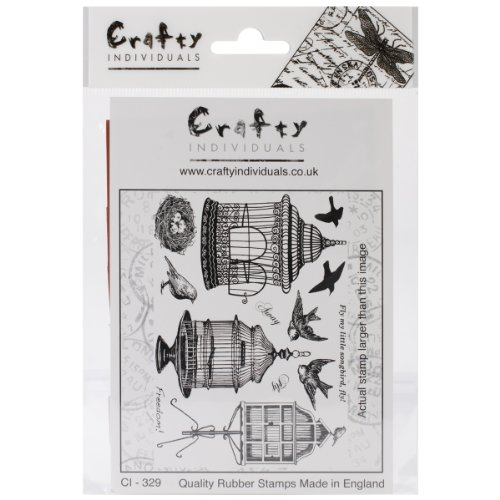 (Crafty Individuals CI-329 Unmounted Rubber Stamp, Beautiful Birdcages )