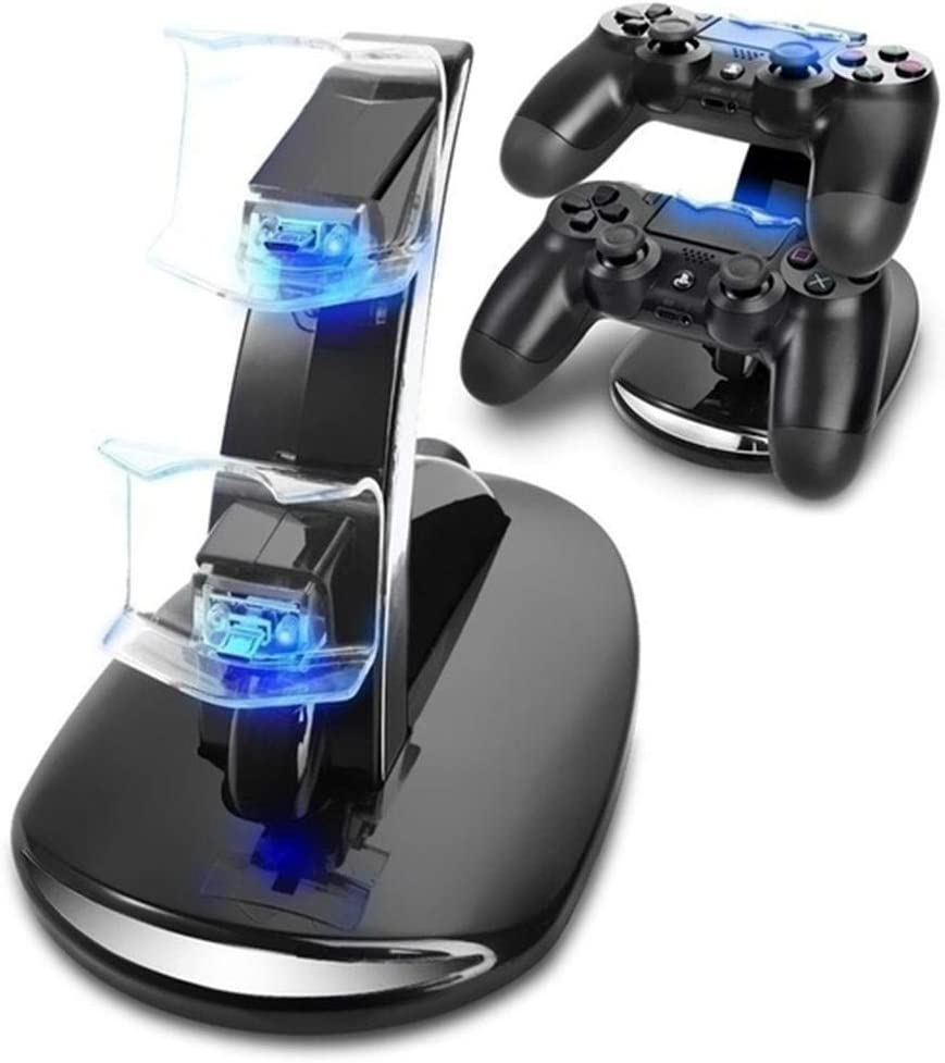 RIBITENS USB Charging Stand PS4 Double Charging Bracket for PS4 Handle Useful Charging Stands