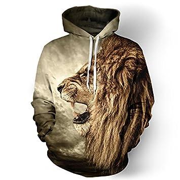 Nueva moda tigre sudadera Chaqueta Hombre Mujer harajuku estilo 3D coat chaqueta león animales divertidos camisetas sudadera con capucha: Amazon.es: ...