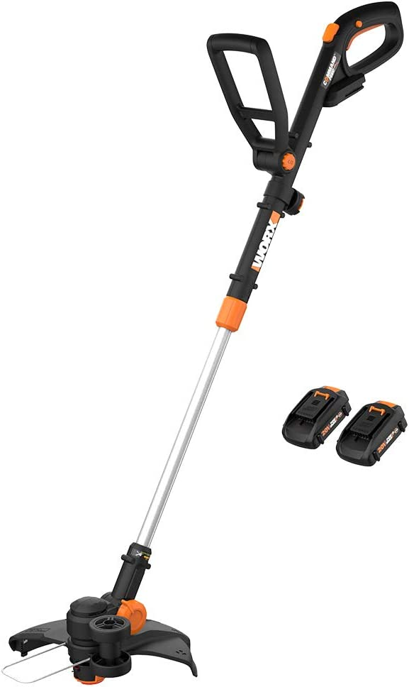 WORX WG323 20V Power Share Cordless 10-inch/ Pole Saw//Chainsaw with Auto-Tension /& WA0010 6-Pack Replacement Trimmer Line for Select Electric String Trimmers