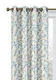 Regal Home Collections 2 Pack Cherry Blossom Floral Room Darkening Thermal Designer Grommet Curtains, 84 in. Long - Assorted Colors (Blue)