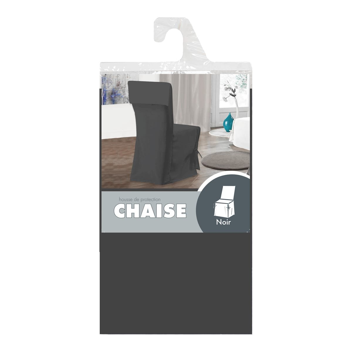 Lavable Hauteur du dossier ajustable jusqu/à 50 cm Largeur 45 /à 50 cm AMHCHA Taupe Housse de Chaise /à Nouettes